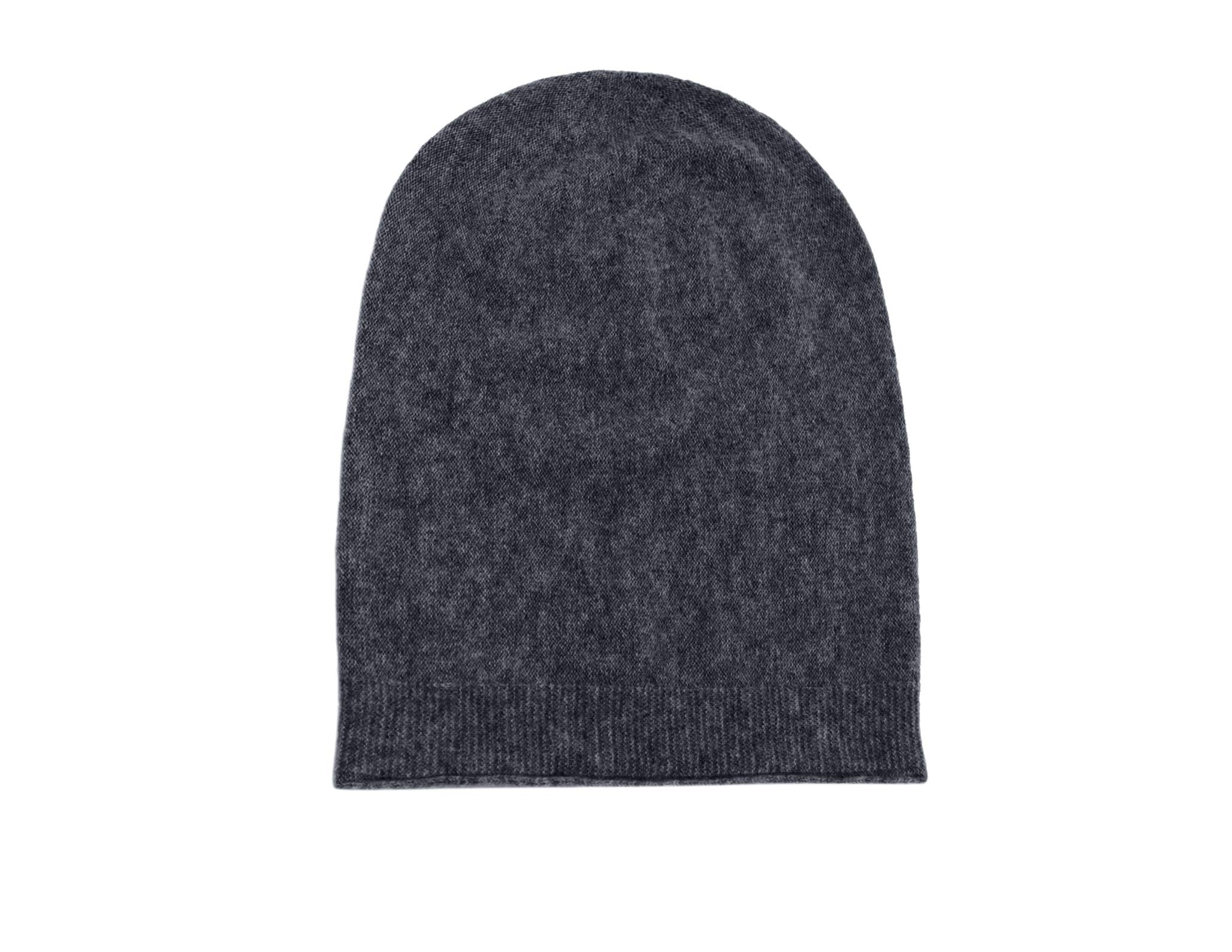 State Fusio Warm Wool Cashmere Winter Hat Beanie for Men and Women Charcoal