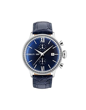 26e921e543a Buy Cerruti 1881 Analog Blue Dial Men's Watch-CRA178SN03BL Online at Low  Prices in India - Amazon.in