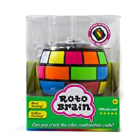 Roto Brain 3D Puzzle Sphere - Brain Teaser Puzzle Game to Fidget, Twist, Turn - 3 Levels of Difficulty, Crack The Code for This IQ | Memory Booster! for Kids and Adults, Age 8+