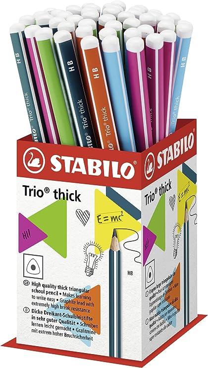 Stabilo Trio lápices de grafito HB de grosor – Rotuladores de ...