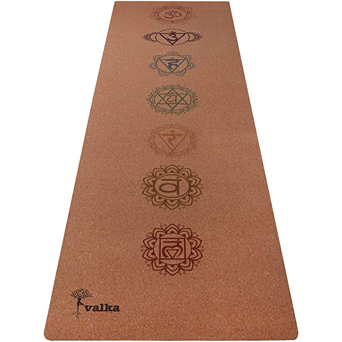 Valka Cork - Esterilla de Yoga, Chakras: Amazon.es: Deportes ...