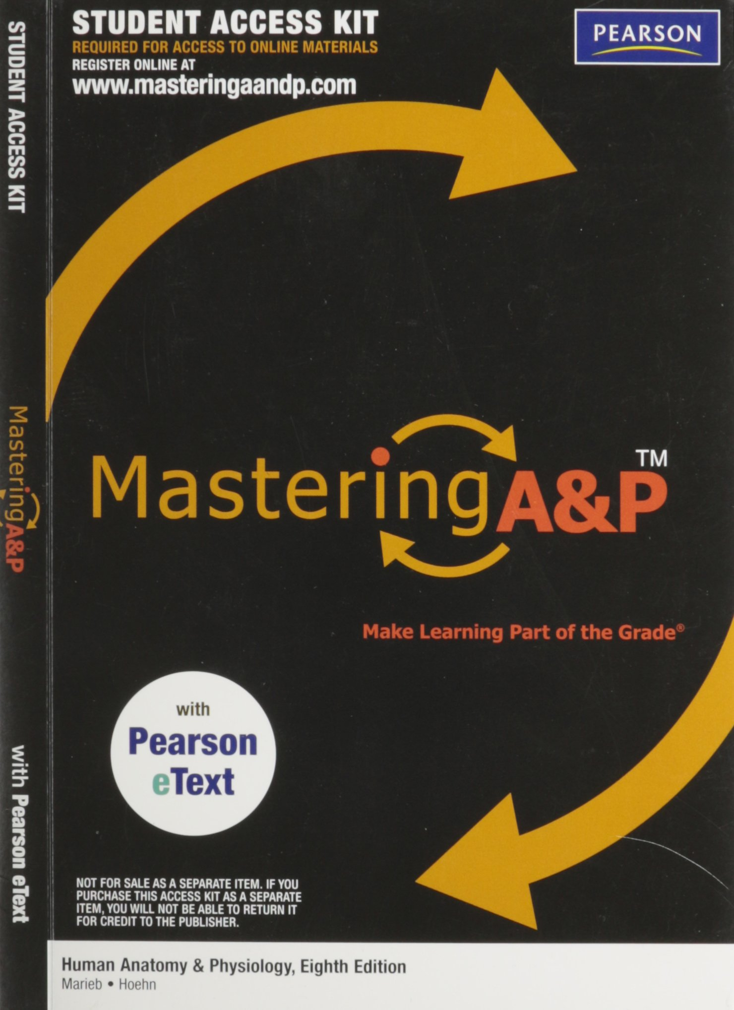 Masteringap With Pearson Etext Student Access Kit For Human Anatomy
