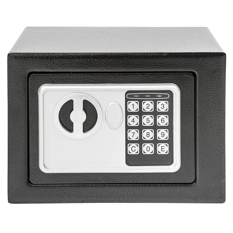 TecTake® Massiver Elektronischer Safe Tresor 17 X 23 X 17 cm schwarz inklusive 4 Batterien thumbnail