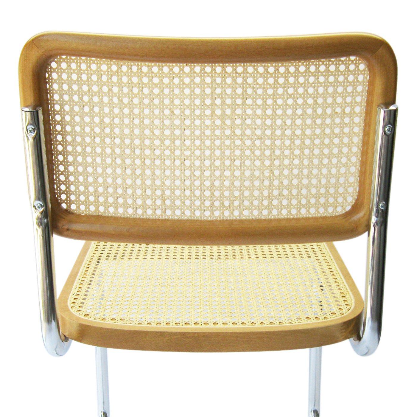 Amazon.com   Marcel Breuer Cesca Cane Chrome Side Chair In Honey Oak    Chairs