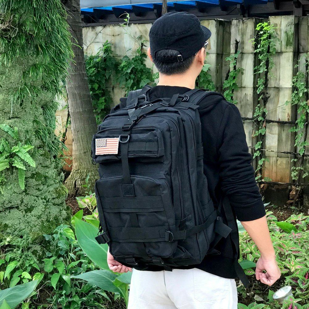 Military Tactical Backpack, Large Outdoor Rucksack for 3 Day Assault Pack Army Molle Bug Out Bag 40 L by Tacticca (Image #3)