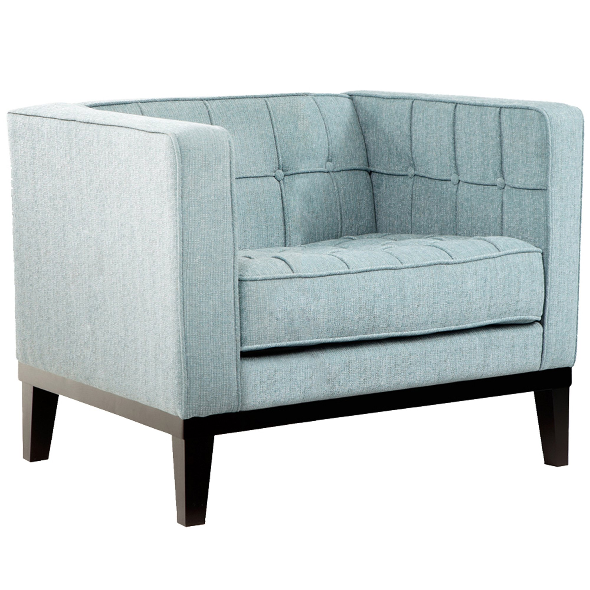 ARMEN LIVING Roxbury Chair, Spa Blue Fabric