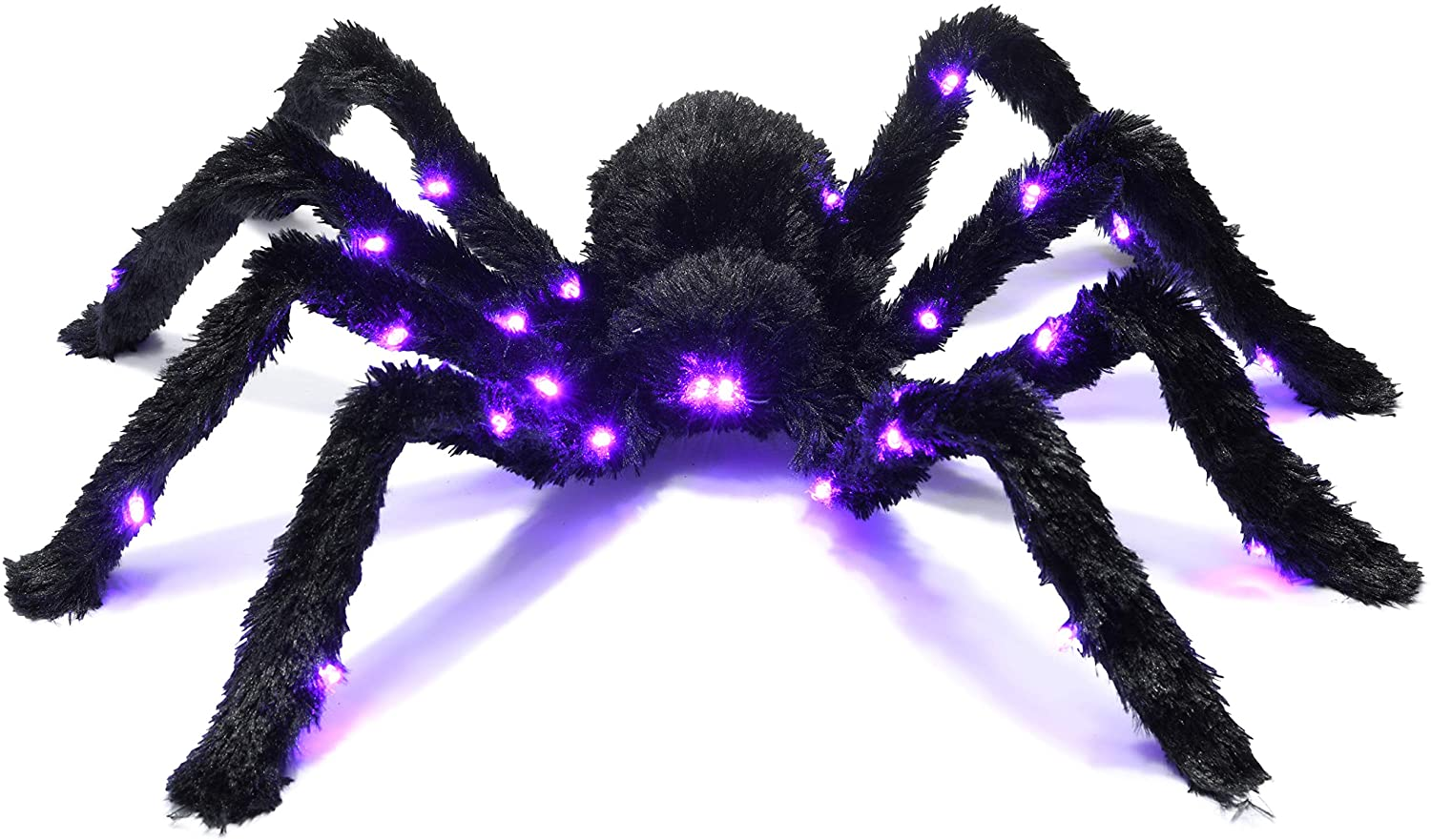 Prextex Light up Black Hairy Spider Tarantula for Halloween Haunt D cor Best Halloween Decoration