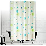 New Funky Bathroom Shower Curtain Extra Long with Rings 180 x 200 cm (Playful)
