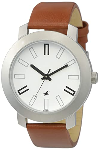 8. Fastrack Casual Analog White Dial Men's Watch -NK3120SL01