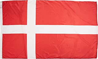 product image for Annin Flagmakers Model 192194 Denmark Flag Nylon SolarGuard NYL-Glo, 5x8 ft, 100% Made in USA to Official United Nations Design Specifications
