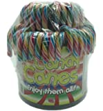 Candy Canes - Zuckerstangen rot-gelb-grün-blau 72St/12Gr.