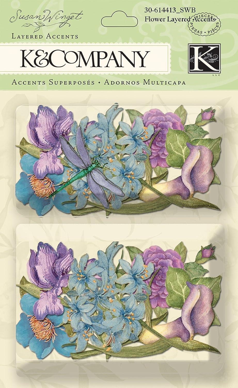 K and Company Susan Winget Layered Accents, Botanical Flower EKS 30-614413