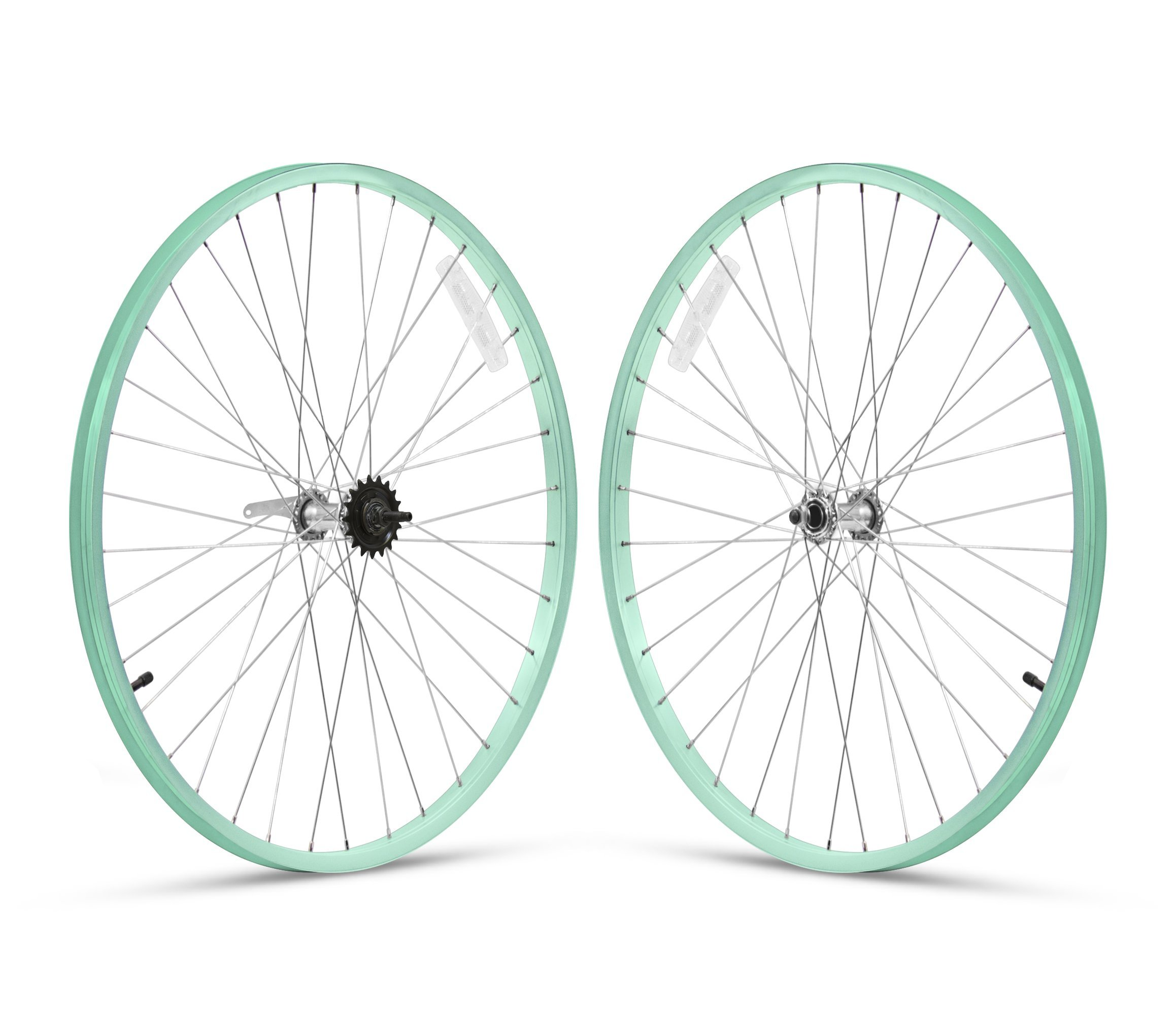 Firmstrong 3-Speed Beach Cruiser Bicycle Wheelset, Front/Rear, Mint Green, 26'' by Firmstrong