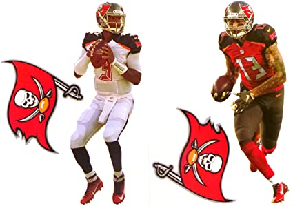 99568799 Jameis Winston and Mike Evans Mini FATHEAD + 2 Tampa Bay Buccaneers ...