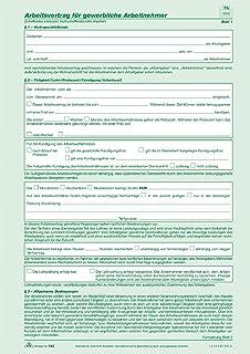 Arbeitsvertrag Für Gewerbliche Arbeitnehmer 2 Seiten Din A4