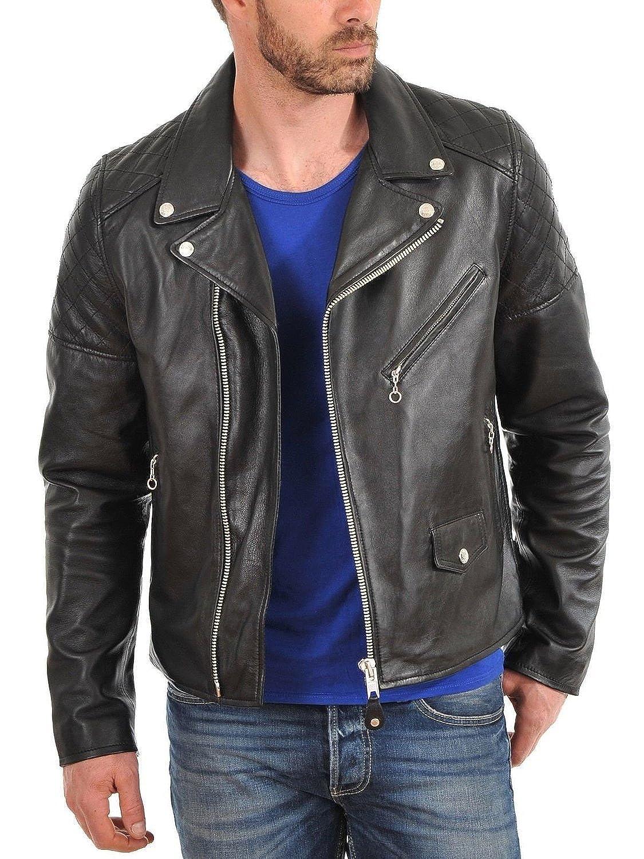 Laverapelle Men's Lamb skin Real Leather Jacket Black - 1510001