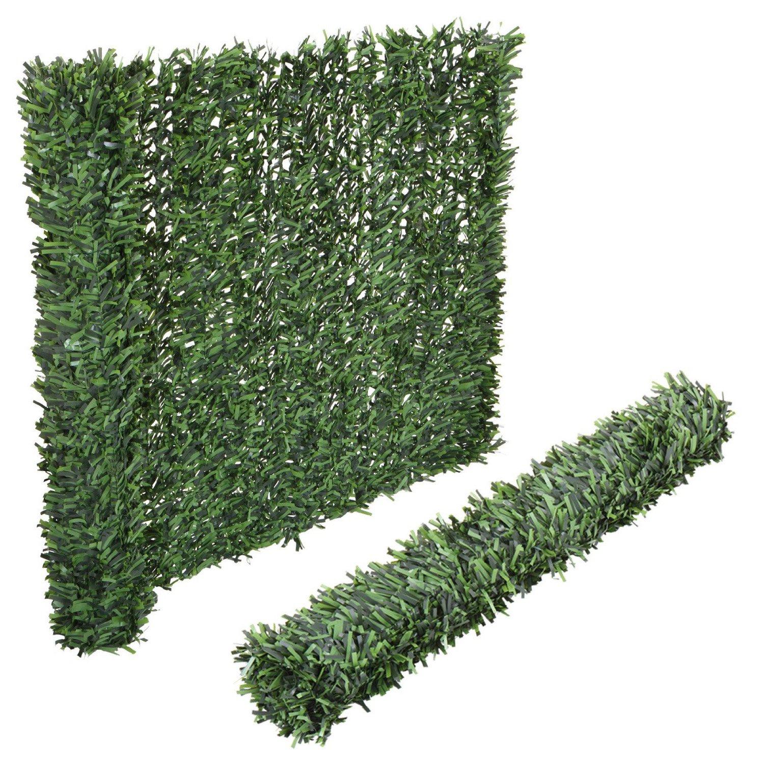 Synturfmats Artificial Hedge Slats Panels for Chain Link Fencing Outdoor Faux Hedge Privacy Screen Fence by Synturfmats