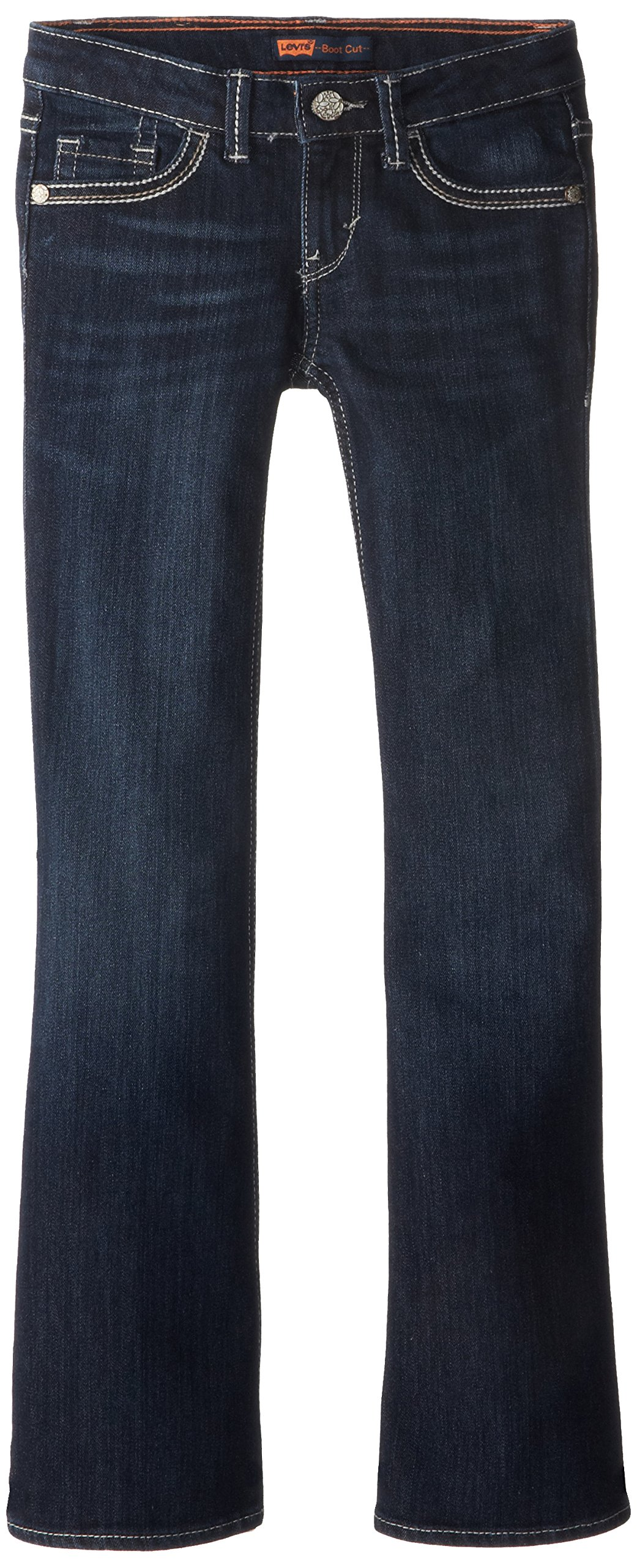 Levi's Girls' Big 715 Bootcut Thick Stitch Jeans, Tailored Indigo, 14 by Levi's