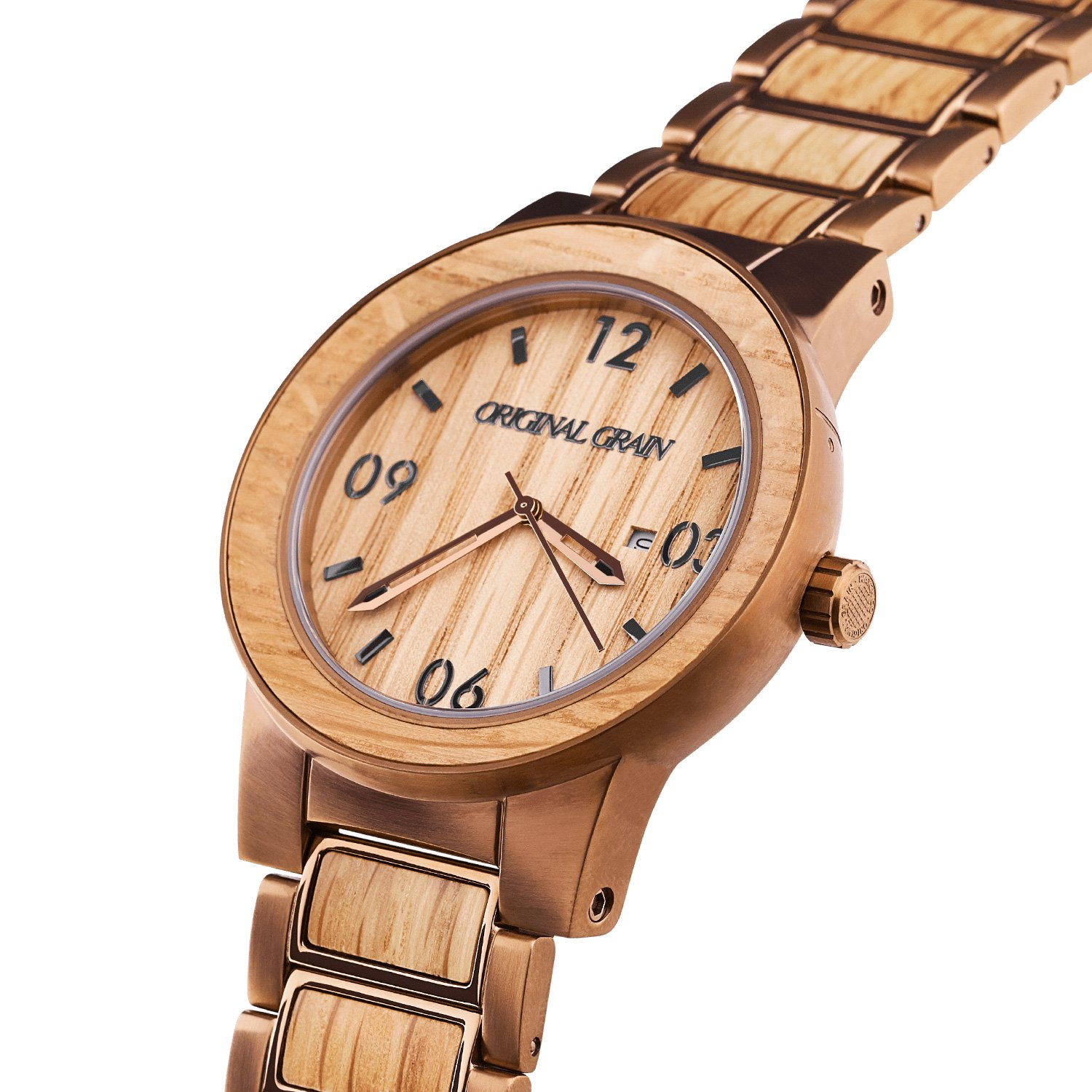 wooden with watches quartz watch products black true for wood men green truwood mahogany leaf