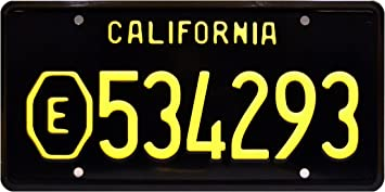 Metal Stamped License Plate Celebrity Machines ADAM-12 E999001