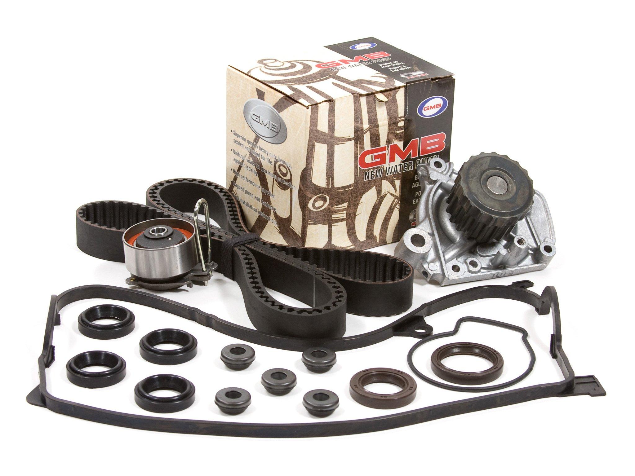 Evergreen TBK312VC Honda Civic DX EX GX LX 1.7 Timing Seal D17A Timing Belt Kit Valve Cover Gasket GMB Water Pump