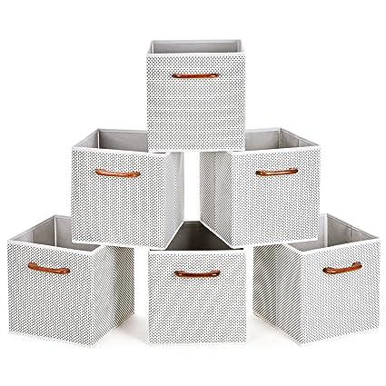 MaidMAX Caja de almacenaje de Tela Cajon Organizador Plegable Unidad de Almacenamiento, 6 Pcs,