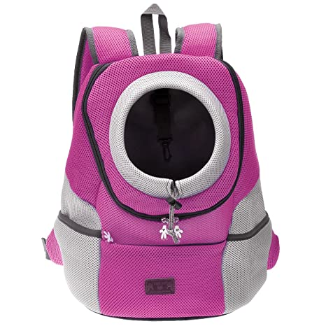 2244fe0b00 Mogoko Airline Approved Cat Dog Backpack, Puupy Pet Carrier Front Bag with  Breathable Head Out