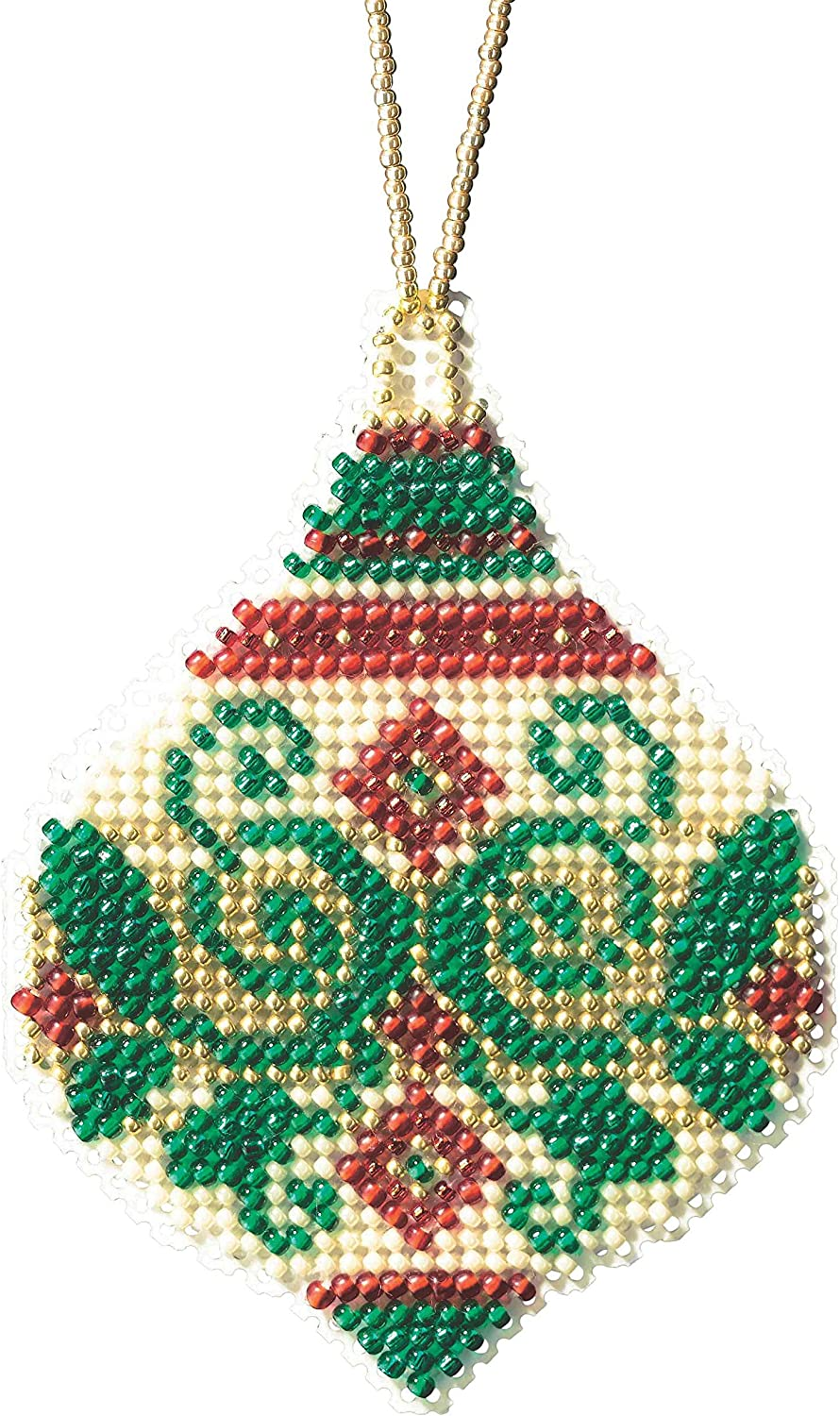 Emerald Flourish Beaded Counted Cross Stitch Ornament Kit Mill Hill 2019 Beaded Holiday MH211911