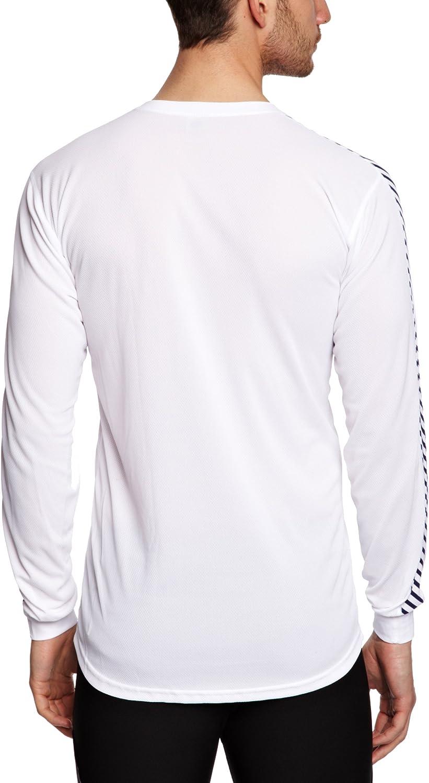 Bianco 001 Base Layer Leggero e Traspirante Uomo Escursionismo e Vela Abbigliamento Sportivo Isolante per Sci L Helly Hansen HH LIFA Stripe Crew Maglia Termica a Maniche Lunghe