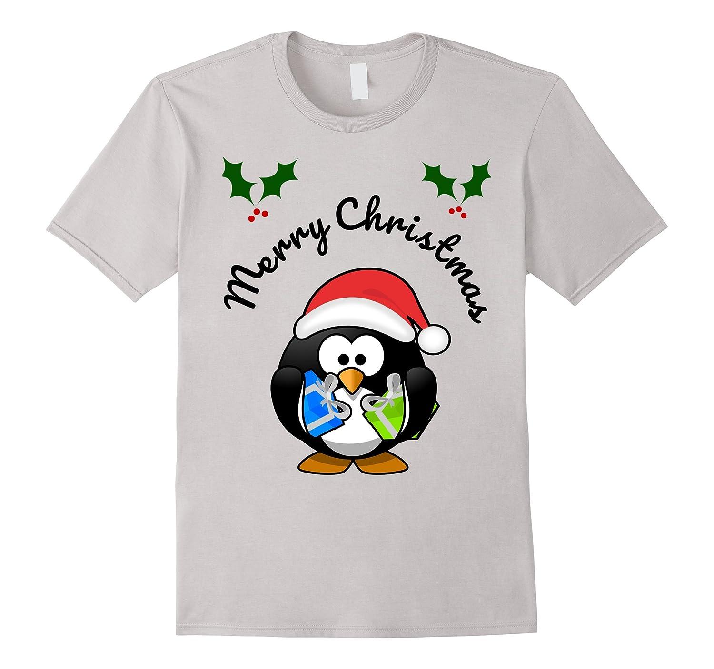 PERSONALISED CHRISTMAS XMAS PENGUIN GIRLS BOYS CHILDRENS KIDS T-SHIRT TSHIRT