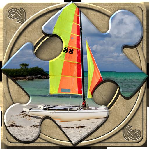 FlipPix Jigsaw - Sail Away (Mosaic Sailboat)