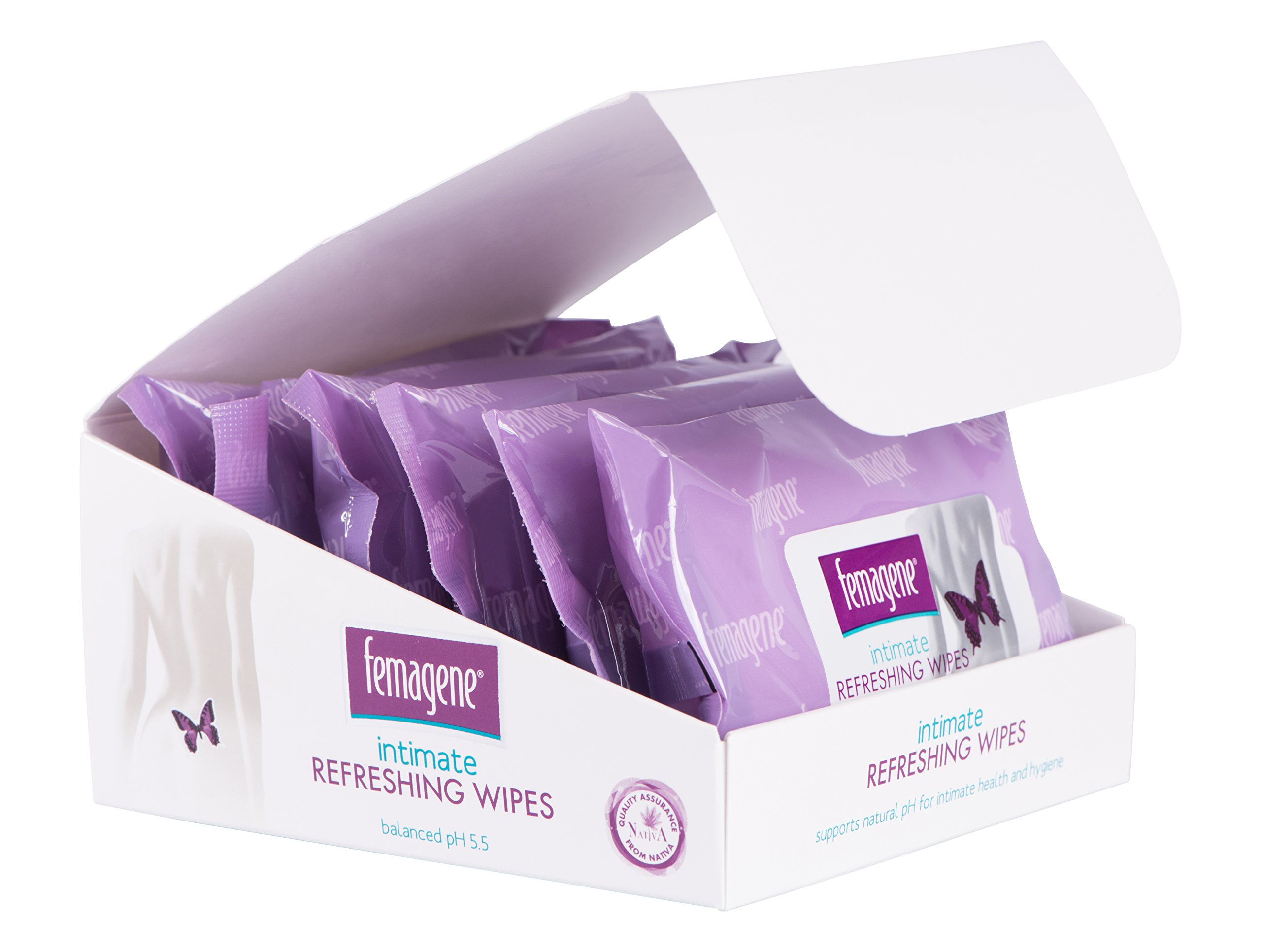 Femagene Intimate REFRESHING FLUSHABLE Wipes| Soothe Vaginal Irritations, Redness & Itchiness, Treat Inflammation, Fungus Infections, Moisturize & Restore pH | Aloe Vera, Calendula, Vitamin E and More