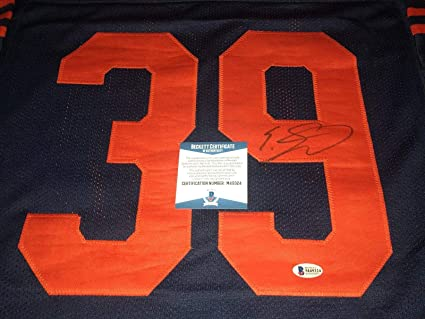 3525c47e24b Image Unavailable. Image not available for. Color: Autographed Eddie  Jackson Jersey - #39 ...