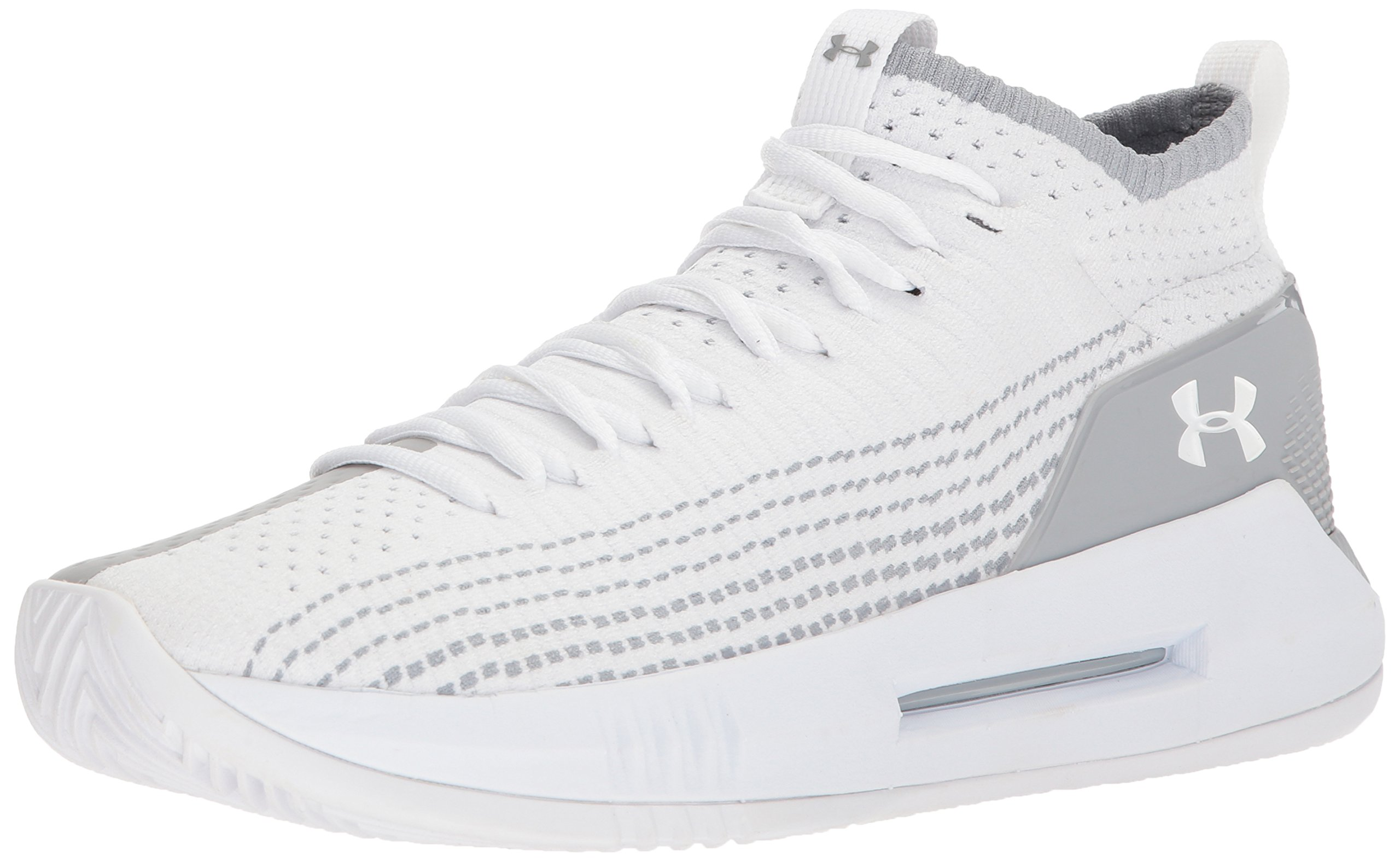 Under Armour Men's Heat Seeker Basketball Shoe, White (100)/White, 11.5 by Under Armour