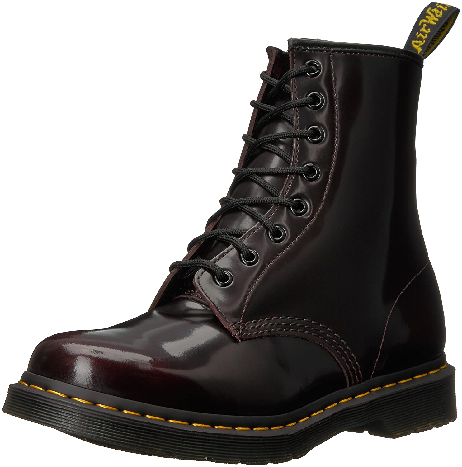 Dr. Martens Men's 1460 Combat Boot, 8.5 B(M) US Women/7.5 D(M) US Men B0046EBP3C 5 B(M) US|Cherry Red