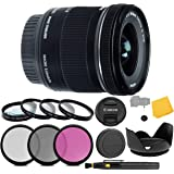 Canon EF-S 10-18mm f/4.5-5.6 is STM Lens + 3 Piece Filter Set + 4 Piece Close Up Macro Filters + Lens Cleaning Pen + Pro Accessory Bundle - 10-18mm STM: International Version (1 Year AOM Warranty)