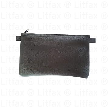 27 x 17 cm schwarz mittig 5 x Banktasche im Set mit V-Pr/ägung