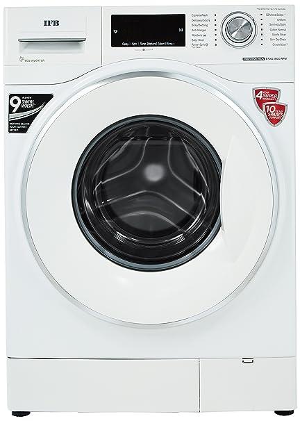 IFB 8.5 kg Fully Automatic Front Loading Washing Machine  Executive Plus VX ID, White  Large Appliances