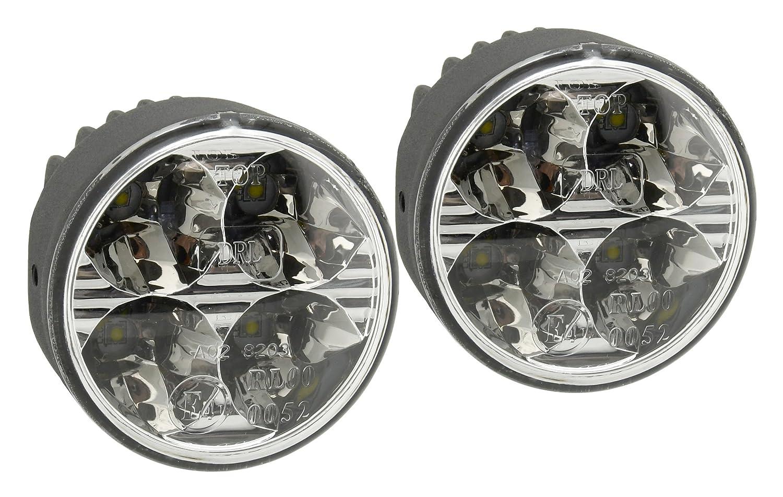 Compass 33551 Runde Tagfahrleuchten DRL 4 High Power LED 12/24V