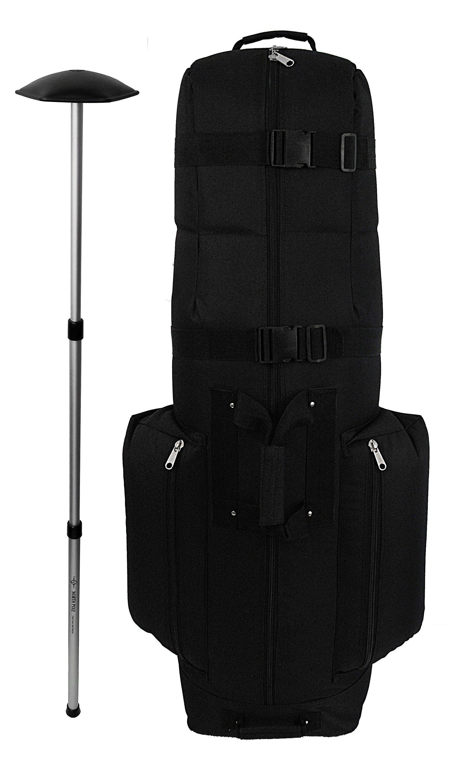 CaddyDaddy Golf CDX-10 Golf Bag Travel Cover with North Pole Club Protector, Black by CaddyDaddy