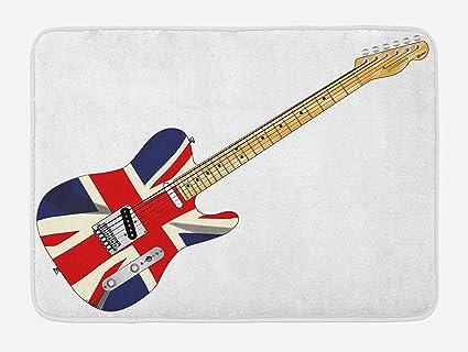 COCO-La Union Jack Alfombrilla de baño, guitarra eléctrica clásica ...