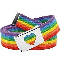 Build A Belt Uniforme escolar para niña, hebilla de cinturón con correa de tela, color plateado
