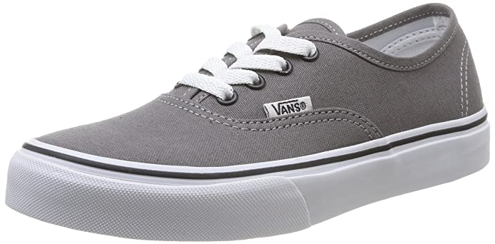 Vans K Authentic Unisex – Kinder Sneaker Grau (Pewter/Blk)