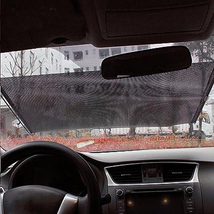 Amazon.com  Finlon Retractable Auto Windshield Sun Shade Car Front Rear  Window Cover Shine Blocker Sun Shade Visor  Home Improvement 4c2e1413504