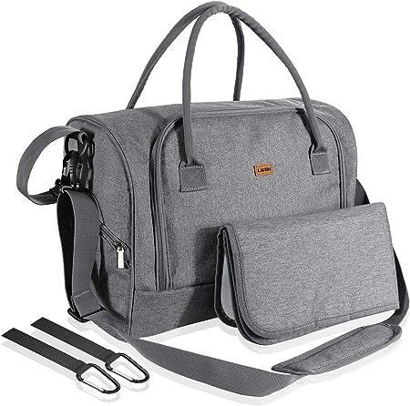 ❤Cuatro formas de llevar: bolso, bolsa de mensajero, bolsa de carrito de bebé y bolsa de viaje.,❤Acc