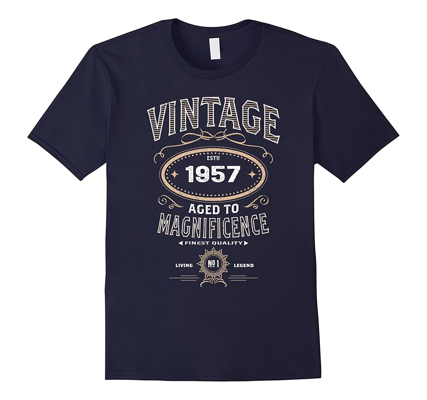 Vintage Aged To Magnificence 1957 60th Birthday Gift T-shirt-BN
