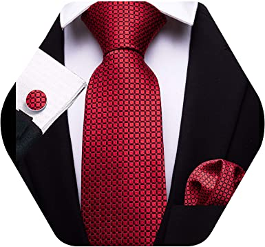 Mens Solid Red Necktie with Red Suspenders 2 Brothers Unlimited