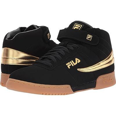 Fila Men's F 13 BlackGoldGum Hightop Sneakers Shoes