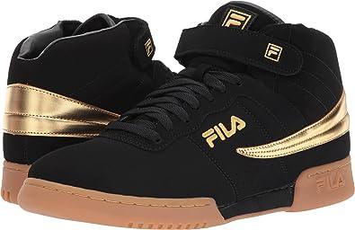 Fila Men's F-13 Black/Gold/Gum 8 D US D