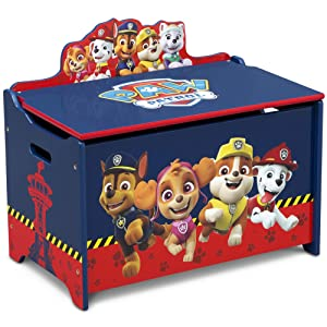 Delta Children Deluxe Toy Box, Paw Patrol, Blue